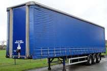 Curtain-Sided Trailer available from B.J.Clarke Haulage Contractors in Wrexham & Chester